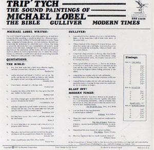 Michael Lobel - Trip-Tych / The Sound Paintings Of Michael Lobel