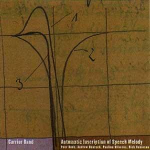 """画像1: Carrier Band """"Automatic Inscription of Speech Melody"""" [CD]"""