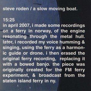 """画像1: Steve Roden """"A Slow Moving Boat"""" [Mini CD]"""