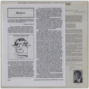"""画像2: V.A """"New Directions In Music """"Significant Contemporary Works For The Computer"""" [CD-R]"""