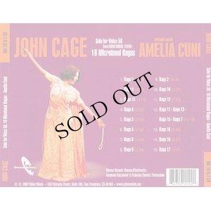 """画像2: John Cage - Amelia Cuni """"Solo for Voice 58: 18 Microtonal Ragas"""" [CD]"""